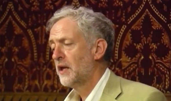 Jeremy Corbyn wearing a suit and tie: Anti-war: Corbyn made the comments during a speech in 2010