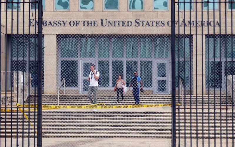 a gate in front of a building: The sydrome is named after the Cuban capital, where US embassy workers were first diagnosed with the syndrome - Emily Michot/Miami Herald/Tribune News Service via Getty Images