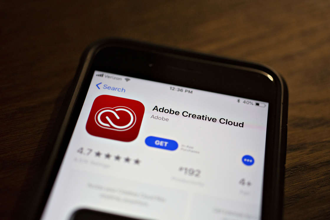 a screen shot of a smart phone: Adobe Systems Inc. Software Ahead Of Earnings Figures