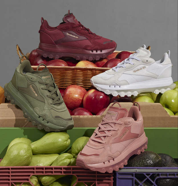 a box of fruit and vegetable stand: Credit: Courtesy Reebok