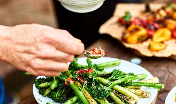 a plate of food with broccoli: Mediterranean diet can help arthritis by curbing inflammation