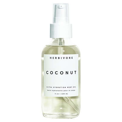 """Slide 2 of 22: Board-certified dermatologist Peterson Pierre, who is based in Thousand Oaks, California, loves using coconut oil as a body moisturizer. """"It's light, does a good job locking in moisture, and has good anti-inflammatory properties,"""" he tells Allure. Herbivore Botanicals' Coconut Body Oil features the nourishing ingredient, along with vitamin-rich jojoba seed oil. Its delicious, tropical scent is just the cherry on top."""