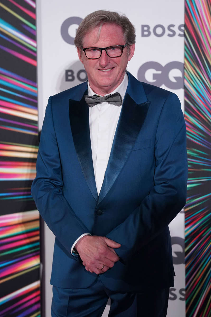 a man wearing a suit and tie: Adrian Dunbar was also among the winners in recognition of his part in the BBC's massively successful Line Of Duty (Jonathan Brady/PA) (PA Wire)