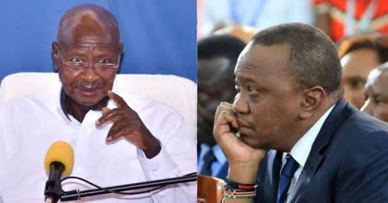 Yoweri Museveni wearing a suit and tie: Uganda could restrict Kenyan products from entering its market if the threats by the Agriculture Ministry is anything to go by.