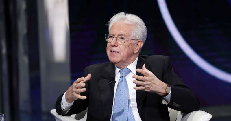 Mario Monti wearing a suit and tie: Former Italian Prime Minister Mario Monti appearing on