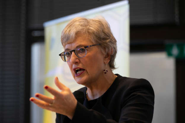 Katherine Zappone in glasses looking at the camera