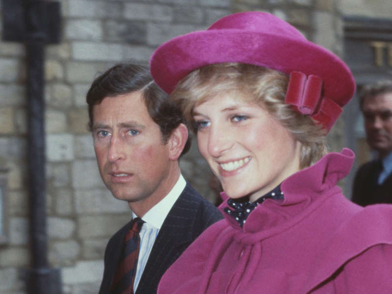 Dick Martin, Diana, Princess of Wales are posing for a picture: Charles Diana - Getty Images