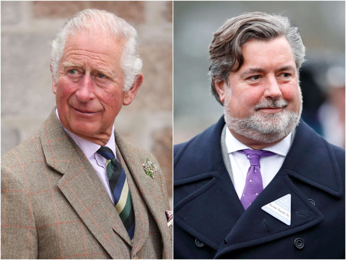 Prince Charles, Michael Fawcett are posing for a picture: Prince Charles, left, and Michael Fawcett. Chris Jackson/Getty Images, Max Mumby/Getty Images