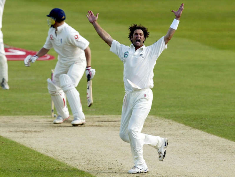 a cricket player during a game: New Zealand's Chris Cairns is recovering from a spinal stroke (David Davies/PA) - PA Archive