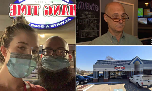 New parents wearing masks get kicked out of Texas restaurant AAOCK7A