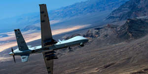 a plane sitting on top of a mountain: The MQ-9 Reaper was a linchpin in the Middle East. Now, it must adapt to new battlespaces.