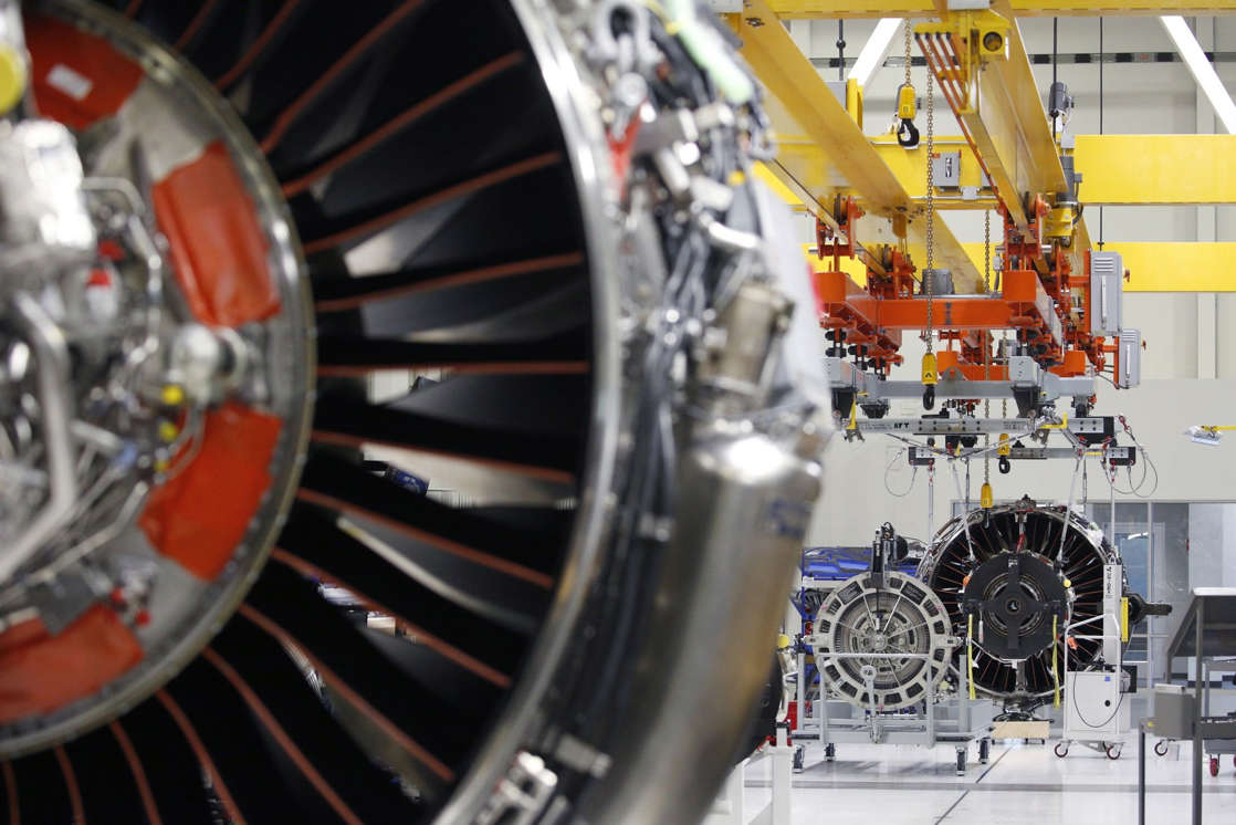 a close up of an engine: A GE Aviation Jet Engine Manufacturing Facility Ahead Of Earnings Figures