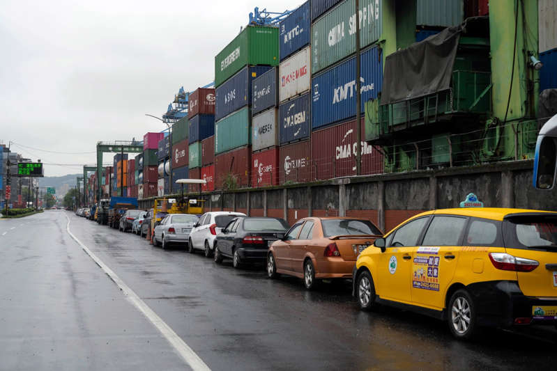 a car parked on a city street: Views of Keelung Port In Taiwan Ahead of GDP Figures