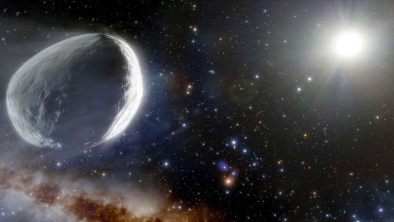 An illustration of how the monster comet might look in the outer solar system. NOIRLab/NSF/AURA/J. da Silva