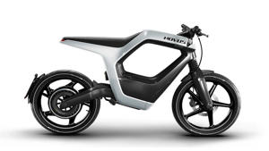 a close up of a motorcycle: Novus One Electric Motorbike - Main