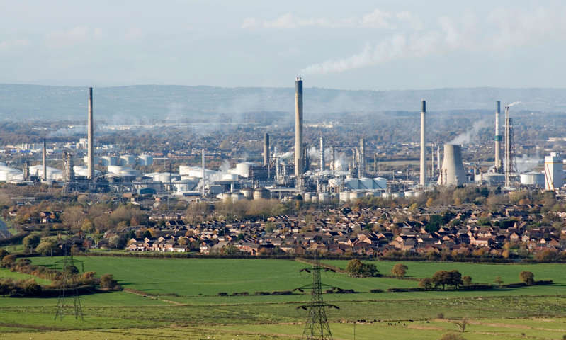 The Stanlow oil refinery supplies about a sixth of the UK's road fuel.