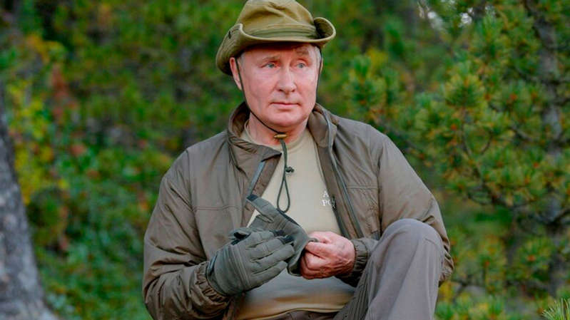 Mr Putin visited the Primorye and the Amur Region of the Russian Far East earlier this month. Pic: AP