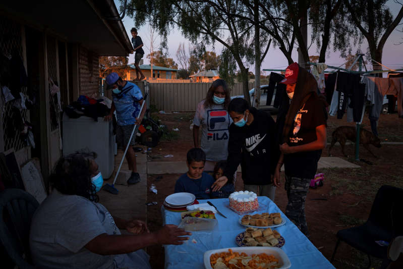A birthday party celebration for Nathaniel Bugmy, who was turning 7. He spoke with his mother Merinda Bugmy on FaceTime, as she was in isolation because of the coronavirus.