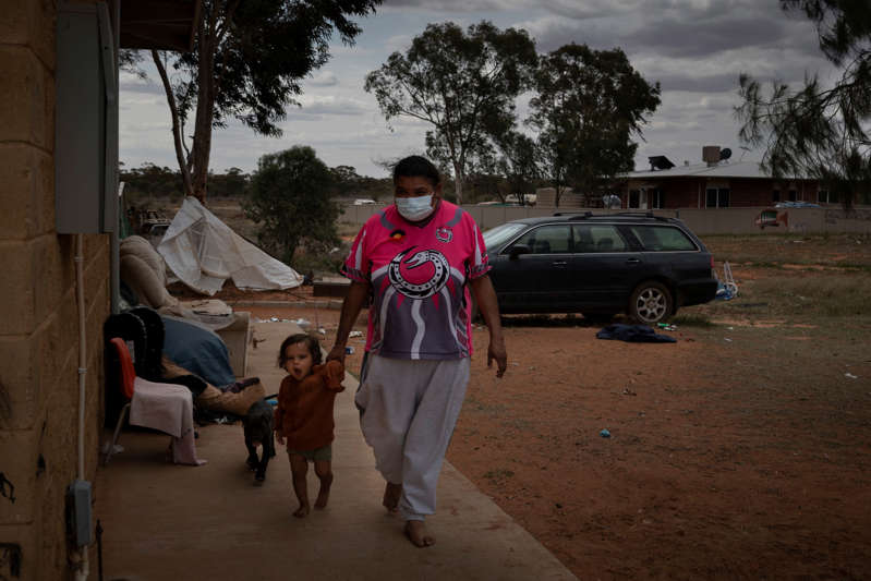 Raelene Hunter was forced to isolate with her family at a temporary facility at a campground. With a substantial Indigenous population, Wilcannia was identified as vulnerable to an outbreak.