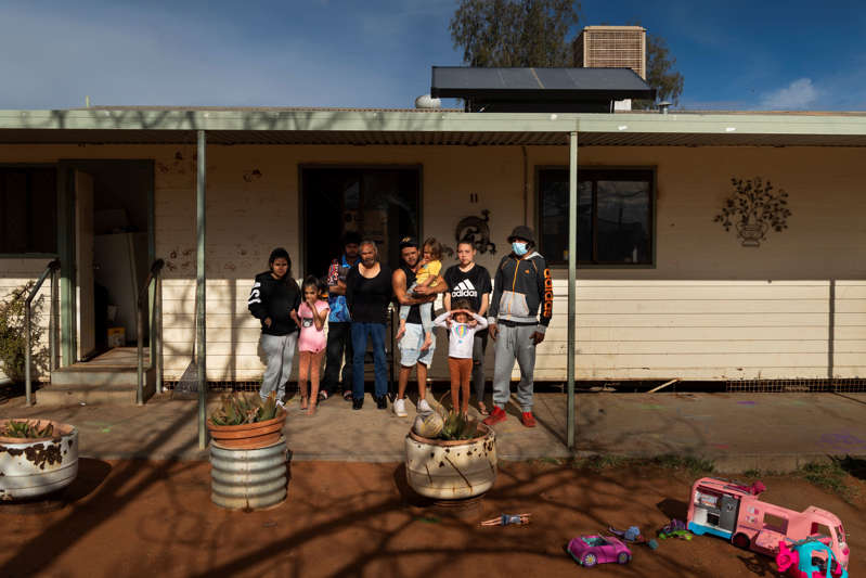 A family of 10 in Wilcannia are forced to isolate in a small house. The remote town faces housing problems, and some families live in crowded environments that allowed the virus to spread.
