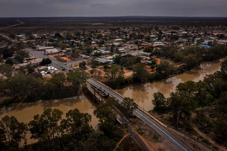 Wilcannia sits on the Darling River in far western New South Wales, Australia. Many of its residents are Indigenous.
