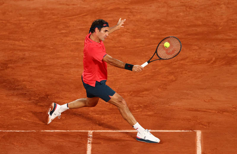 Roger Federer during a match against Dominik Koepfer of Germany at the French Open in Paris, June 5, 2021.