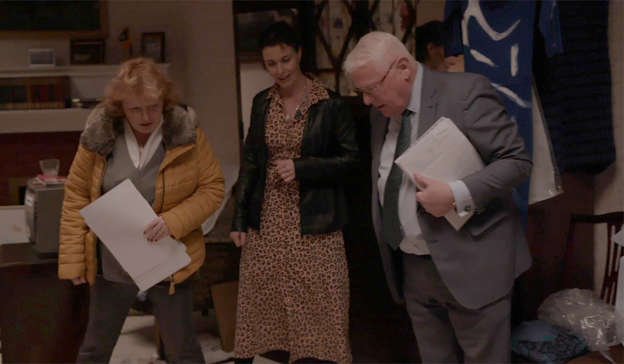 a group of people posing for the camera: Angela Doyle, Dr Ciara Staunton and Prof Jack Crane in the documentary. Pic: RTÉ