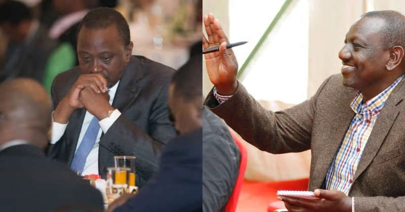 """a group of people sitting at a table: William Ruto Prays For Uhuru, Asks God to Bless Jubilee Gov't: """"Tusaidie Kama Taifa"""""""
