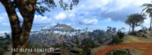 """a tree with a mountain in the background: The new Pacific map is a radical depature from the previous environments seen in """"Call of Duty: Warzone"""". Raven Software"""