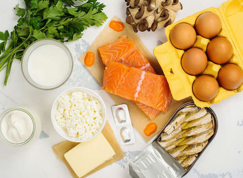 a plate of food on a table: Vitamin d foods