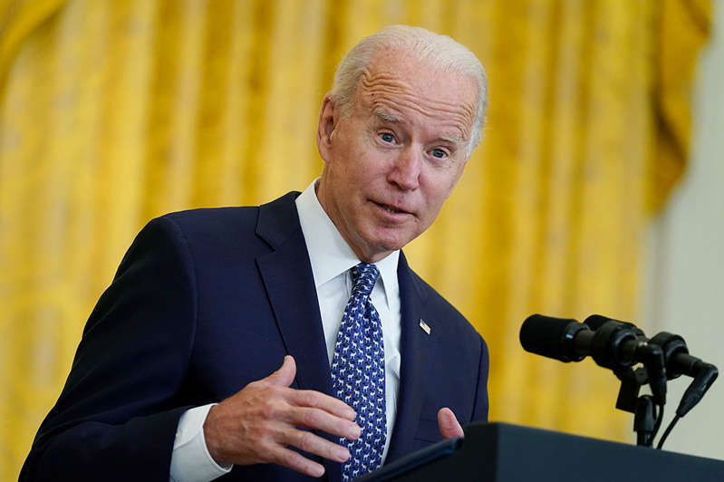 Joe Biden wearing a suit and tie: The debacle of the Afghanistan withdrawal has revealed the fundamental flaws in Joe Biden's presidency: His slim congressional majorities and weakness among independent voters will make it next to impossible to implement his domestic agenda.
