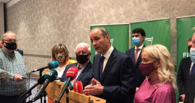 Micheal Martin et al. that are talking to each other