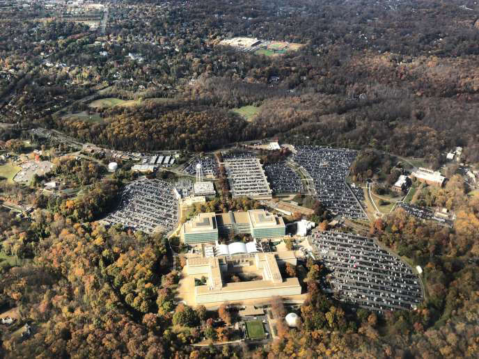 The headquarters of the Central Intelligence Agency (CIA), in Langley, Virginia.