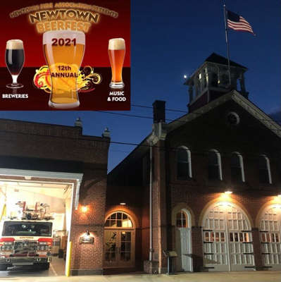 a building lit up at night: Featured Event: Newtown Beerfest (Brian McNulty)