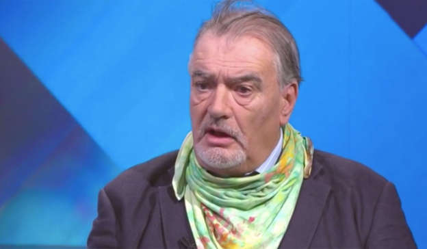 Ian Bailey in a blue shirt: Viewers heaped praise on Virgin Media presenter Colette Fitzpatrick as she interviewed Ian Bailey on a TV special on Monday night. Pic: Virgin Media TV