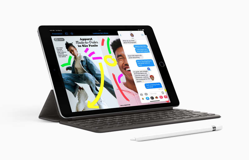 graphical user interface, website: The new iPad has improved performance and cameras. (Apple)