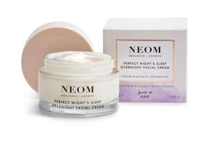 a close up of a cup: Neom, Perfect Night's Sleep Overnight Facial Cream, £42