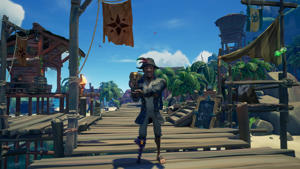 """Picture shows the """"Award Acceptance"""" emote in """"Sea of Thieves""""."""