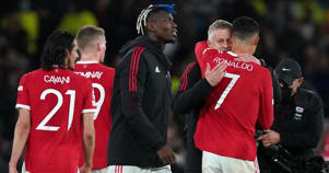 """Ole Gunnar Solskjaer embraces Cristiano Ronaldo after his winning goal against Villarreal in the <a href=""""https://www.geekinco.com/2021/09/uefa-champions-league-first-three-games.html"""">Champions League</a> for Manchester United, September 2021"""