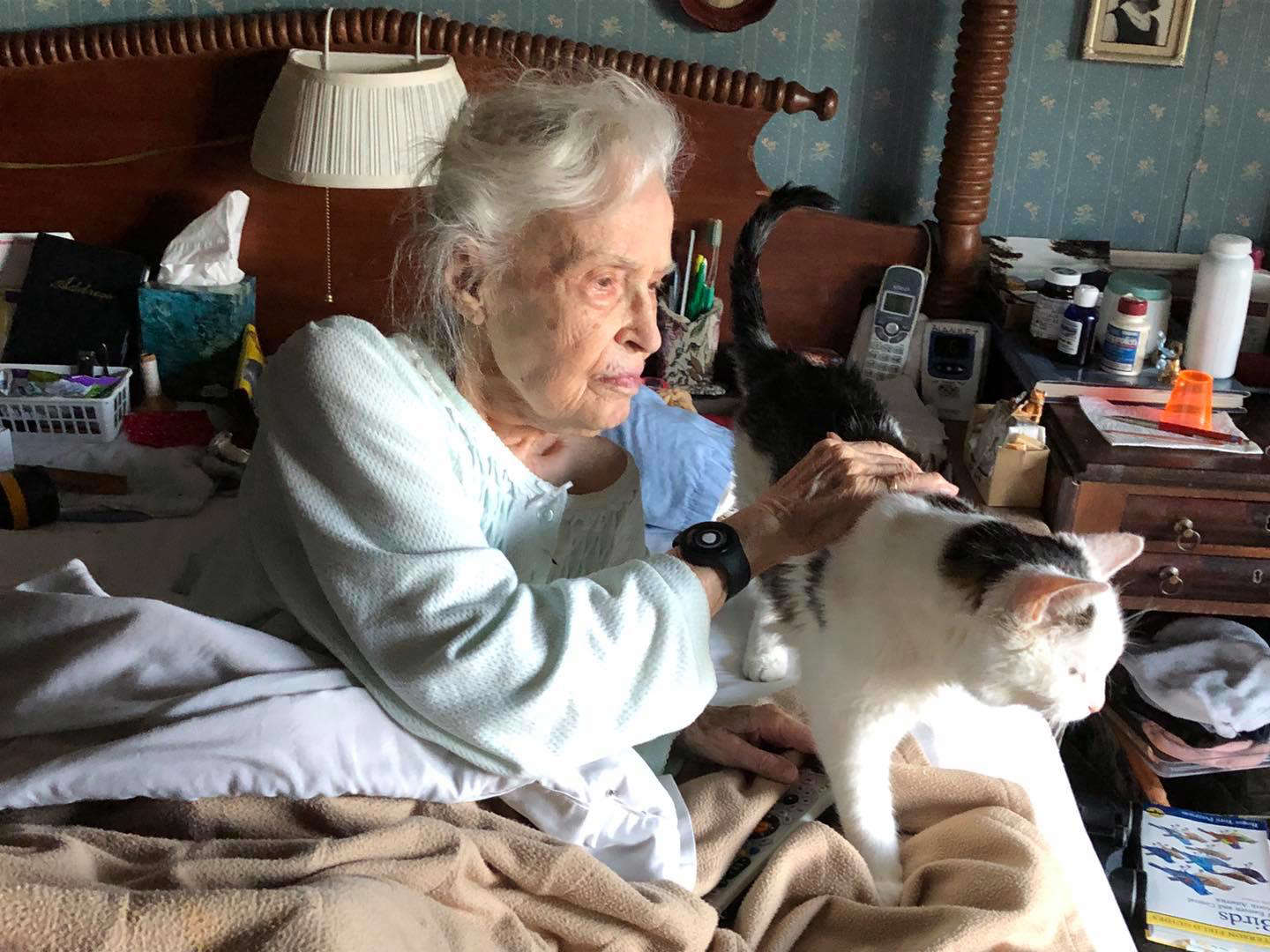 101-Year Old Woman Adopts 19-Year Old Cat