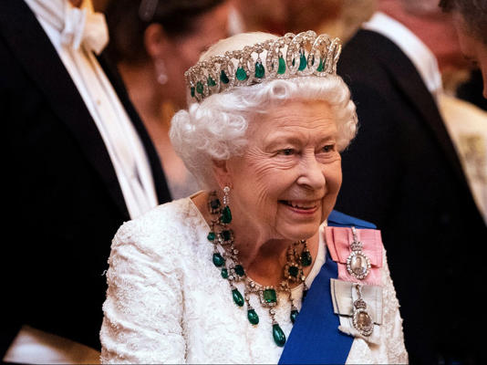 Queen Elizabeth at Buckingham Palace in December 2019 - Getty Images