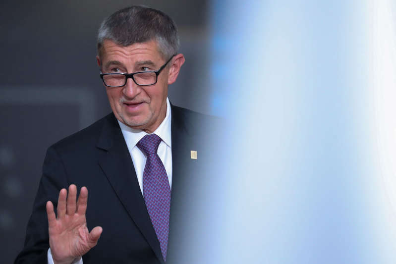 © Aris Oikonomou/AFP/Getty Images Czech Prime Minister Andrej Babis in Brussels on Feb. 20, 2020. (Aris Oikonomou/AFP/Getty Images)