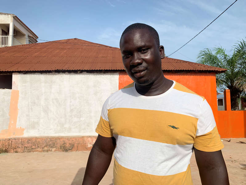 """Mamadu Quebe Junior, 33, was released from a Portuguese prison in June after serving a sentence for drug charges. """"I was a small fish, and Indjai is a big one,"""" he says."""