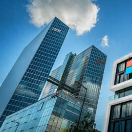 MSFT stock: A Microsoft office building