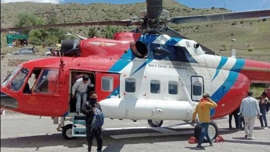 Chief minister Jai Ram Thakur says he had not used the chopper for personal business, unlike the Congress. The HP bypolls are scheduled for October 30. (Deepak Sansta /HT)