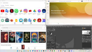 Windows, Android and Linux applications all running side-by-side