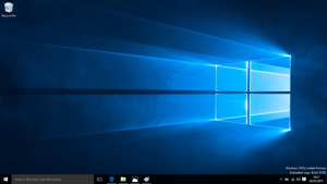 The Windows 10 wallpaper for the release version will be this space age-looking Windows icon, which Microsoft created using lasers, projectors and camera-mapping.