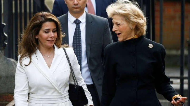 Two of Princess Haya's solicitors, including Baroness Fiona Shackleton, were also targeted