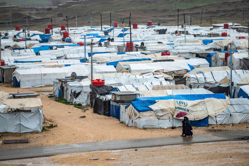 Camp Roj, where relatives of people suspected of belonging to Isis are held (AFP via Getty Images)