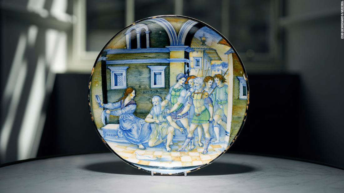 The dish, which had been tucked away in a drawer in a Scottish country house, sold for over $1.7million.